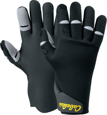 Entertainment Dont let cold weather ruin your day on the water. These gloves feature 2mm fleece-lined neoprene with adjustable cuffs, keeping water out and warmth in. Slits on thumbs and index fingers allow easy knot tying. Touchrite technology delivers superior dexterity and easy casting. Moisture-wicking fleece cuts down on perspiration. Seamless palms. Imported. Sizes: M-2XL. Color: Black. Size: 2 X-Large. Color: Black. Gender: Male. Age Group: Adult. Type: Gloves. - $39.99