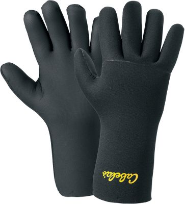 Perfect for cold-water catches and net retrievals, these gloves feature a full-finger, seamless palm design for enhanced durability and comfort. The 2mm neoprene shells are waterproof and fleece-lined for a little extra warmth. Hand wash in warm water with Woolite; air dry out of sunlight. Imported. Sizes: M-2XL. Color: Black. Size: Medium. Color: Black. Gender: Male. Age Group: Adult. Type: Gloves. - $22.49