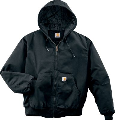 Learn more about Carhartt. Made from durable 9.25-oz. 100% cotton ripstop fabric, this hard-working active jacket resists ripping and tearing. Its more than just a light jacket nylon lining quilted to midweight polyester insulation works with a fixed midweight quilt-lined hood with a drawcord closure to keep you warm and comfortable. Conveniently store keys, small tools and other items inside two internal pockets; the left one features a media port for earbud-cord access to a cell phone or media player. Two exterior pockets, plus a security pocket on the interior of the left-hand pocket. Rib-knit cuffs and waistband. Triple-stitched main seams. Imported. Sizes: L-3XL. Colors: Dark Khak, Dark Brown, Black. Carhartt Style No.: 100108. Size: 2XL. Color: Dark Brown. Gender: Male. Age Group: Adult. Material: Polyester. - $79.99