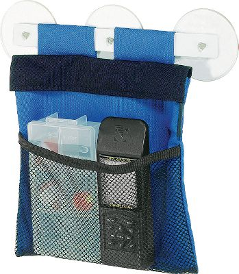 Motorsports Marine-grade fabric bag is made of durable, coated mesh and 600-denier polyester. Suction cups mount the five-pocket organizer. Straps keep gear in place. Made in USA.Dimensions: 9H x 9W x 3D. - $11.19
