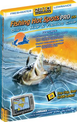 Fishing Its like having a local fishing expert aboard. Slide this digital map and fishing chip into your Lowrance unit, and enjoy nearly 6,000 detailed maps and over 30,000 points of interest for Americas best fishing lakes. Provides physical characteristics and the species of fish found in each lake. Indicates primary forage of game fish and the lakes stocking and management activities. Complete descriptions of access points help you find the best launching area for your boat. Marked fishing areas take the guesswork out of where the fish are. Lake-specific fishing tips boost your chances of success. Includes lake size and depth, bottom composition and the abundance of submerged cover. Compatible with all Lowrance mapping and units. Made in USA. - $99.99