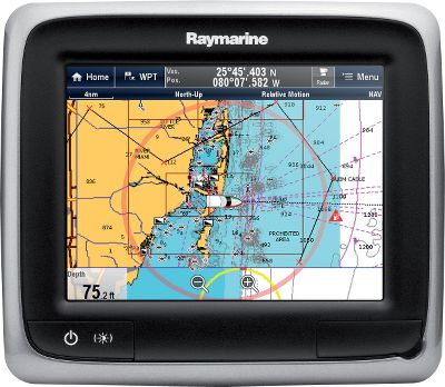 Camp and Hike Multifunction touch display Built-in 50-channel GPS receiver Compatible with Raymarine Raynet networking Compatible with Minn Kota Universal Sonar-equipped trolling motors 5.7 LEDbacklit display with touch screen Available: A65 Chartplotter/Silver Charts Silver mapping package will cover 3,500 inland lakes and basic U.S. Coastal and Great Lakes with limited depth information out to 30 ft. A65 Chartplotter/Gold Charts Gold mapping package will cover 3,500 inland lakes in detail with some lakes down to 3-ft. breaks and all of the Great Lakes and Canada in detail. Color: Silver. Type: GPS. - $749.88