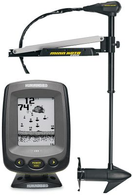Fishing Hit the water armed and ready with more than just your rod and reel. This trolling-motor and fish-finder combo sets your boat up so its ready to take on hampering areas while the fish finder helps you make the most of your time on the water.With reliable, responsive steering control and rugged construction, the Minn Kota Edge 55 trolling motor gets you into tough spots and back out again with ease. Highly responsive push-push, cable-controlled pedal. The ergonomic foot pedal puts you in complete control, and has a toe-controlled speed dial and momentary-on button. The rock-solid mount is made of tempered, marine-grade anodized aluminum with a latch-and-door design for easy removal and an extended motor rest with rear stow latch for stable, secure transport. The motor head is made of an impact-resistant hybrid composite and has a high-visibility directional indicator dial. Weedless Wedge 2 propeller. 45 shaft. 55-lb., five-speed forward thrust.One touch. Thats all it takes to get easy access to all the advanced features of the PiranhaMAX Series fish finders fish and depth alarms, chart-speed programmable memory and more. Features a tilt-and-swivel mount and is a drop-in replacement for many factory-installed, in-dash mounted fish finders. Four-level grayscale, 160V x 128H resolution, 4 display. Single-beam 200 kHz/20 sonar. 800-watt peak-to-peak power. - $499.88