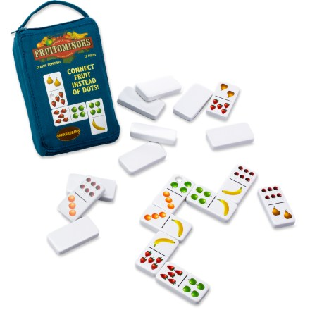 Camp and Hike The Bananagrams Fruitominoes game offers a fresh, fruity and colorful twist on the classic game of dominoes. - $6.93