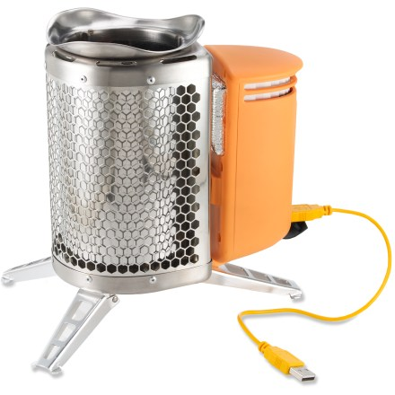 Camp and Hike A cross between a backpacking stove and an off-grid power charger, this innovative stove lets you cook your food and charge your gadgets with nothing more than the twigs you collect around your camp. - $64.93