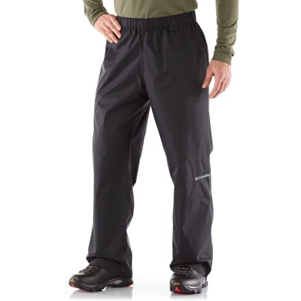 The Columbia Rebel Roamer rain pants with a 32 in. inseam should be a staple in your pack or bag. They keep you dry when there's a sudden downpour. - $50.00