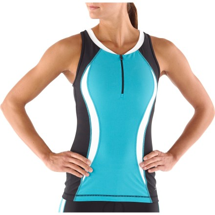 Fitness Competing in a triathlon? The quick-drying Danskin Color Block Tri tank top efficiently wicks moisture away from your skin during intense races. - $22.83