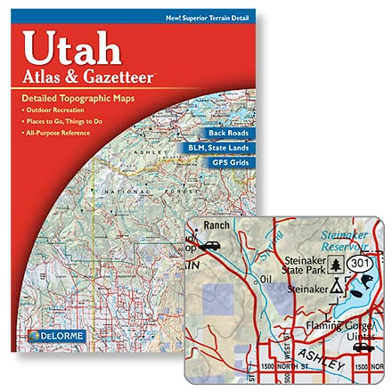 Camp and Hike Complete topographic maps of the entire state of Utah--details include back roads, backwater lakes and streams and campgrounds - $19.95