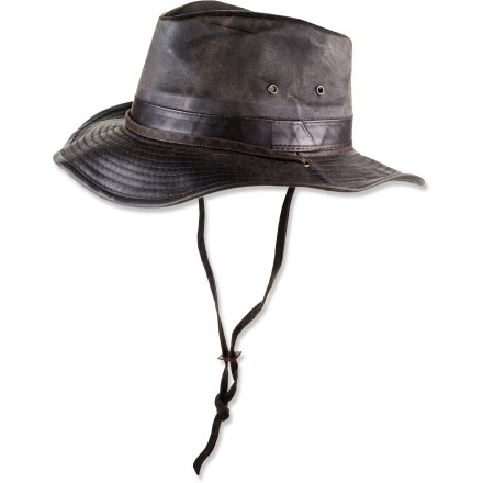 Whether you work outside or just play there, this Dorfman Pacific Weathered Outback hat provides protection from the elements and keeps you looking good. - $39.00