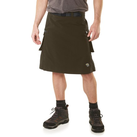Camp and Hike The Mountain Hardwear Elkommando kilt frees you from the constraints of shorts and pants so you can enjoy your outdoor adventure to the fullest. - $54.93
