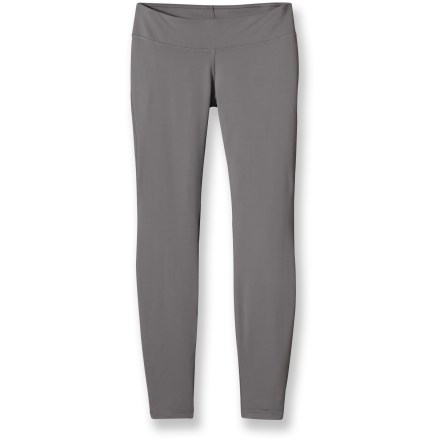 Get rid of those old tights and give your wardrobe a lift with the Patagonia Speedwork tights. Smooth and light with just the right amount of stretch, they'll keep up with your pace on the trail. Soft, stretchy nylon/polyester/spandex fabric blend wicks moisture away from skin and dries quickly, keeping you cool and comfortable while putting in the miles. 100% polyester (30% recycled) mesh panels behind the knees enhance breathability. Wide, low-rise waistband sits comfortably flat next to skin; internal drawcord customizes fit. Internal key pocket easily holds a house key or small media player. Patagonia Speedwork tights feature reflective piping on both ankles to increase visibility in low light. Closeout. - $32.73