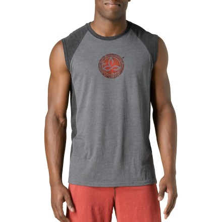 Fitness Find your center in the prAna Bamboo Quest sleeveless T-shirt. Cotton and polyester create the perfect balance of smooth comfort and breathable performance. Great for yoga. - $20.93