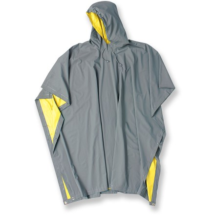 The waterproof Red Ledge Heavy Duty Reversible poncho keeps you dry on rainy days in town and on the trail. - $8.83