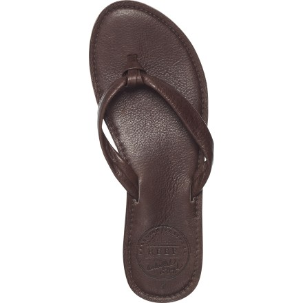 Surf These Reef Creamy leather flip-flops are made for daily cruising and fun in the sun. - $11.83