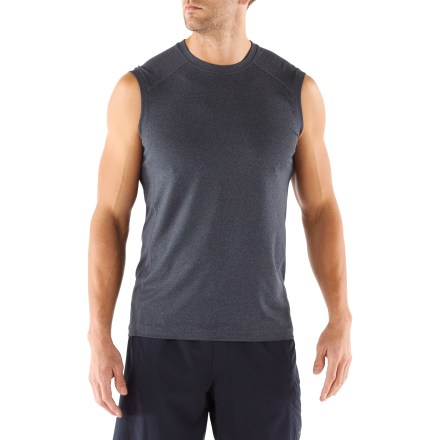 Fitness Offering just the right amount of coverage during warm-weather runs, the REI Tech Sleeveless T-shirt boosts your comfort with specialized fabric. - $10.83