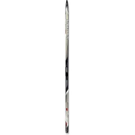 Ski Salomon Elite 8 Edge Grip cross-country skis are great for general touring and off-trail exploring. Their partial metal edges and high-performance waxless pattern offer good control. - $79.93