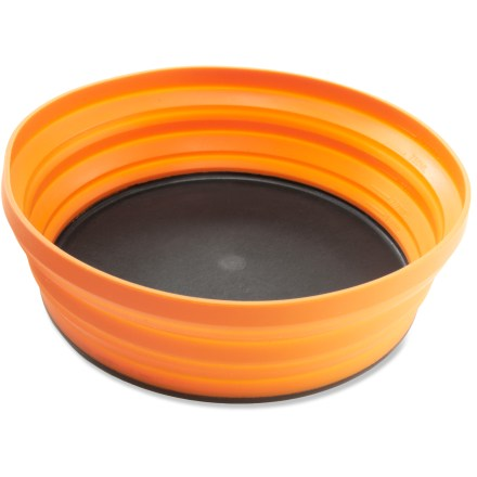 Camp and Hike The Sea to Summit XL-Bowl is 77% larger than the popular X-Bowl and can be used as both a bowl and plate to meet all your dining needs while camping. - $17.95