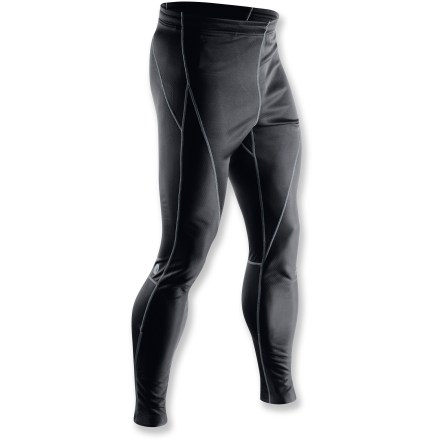 Camp and Hike From biking to hiking to running, the Sugoi Firewall 220 tights keep the wind at bay during cold-weather excursions. Polyurethane-laminated polyester fabric offers wind protection. 10-panel body contour fit for comfort. Flatlock seams offer flexibility and comfort. 10 in. ankle zippers for easy on/off over shoes. Single rear zippered pocket stores a few essentials. Closeout. - $96.73
