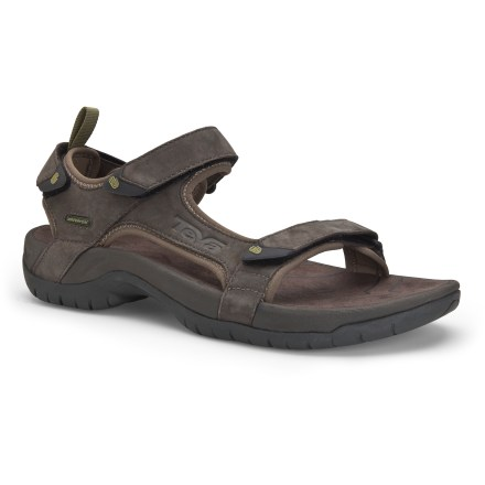 Camp and Hike The Teva Tanza leather sandals provide a plush, luxurious feel without sacrificing the functionality of your favorite water sandal. - $41.83