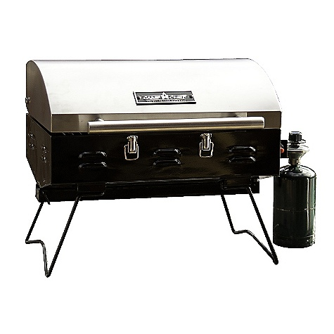 Camp and Hike Free Shipping. Camp Chef Table Top Grill DECENT FEATURES of the Camp Chef Table Top Grill Cooking surface over 200 sq in 12,000 BTU/hr tube burner Matchless ignition Nickel plated cooking grates and stainless steel lid Porcelain coated base Removable grease tray for easy cleaning Runs on 1 lb disposable propane bottle Locking lid for easy transport - $135.42