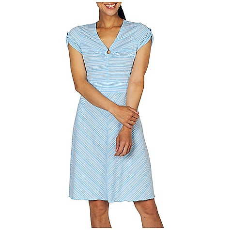 Entertainment Free Shipping. Ex Officio Women's Go To Stripe Dress DECENT FEATURES of the Ex Officio Women's Go To Stripe Dress Center front metal ring detail Security zipper pocket Tagless label for added comfort Odor Resistant: Resists growth of bacteria and fungus that cause odors Quick drying: Fibers release moisture easily so garment dries rapidly Wicking: Fabric moves moisture along the garment's surface away from the skin The SPECS Natural fit DriRelease Go/To Stripe 85% Polyester/15% Cotton - $69.95