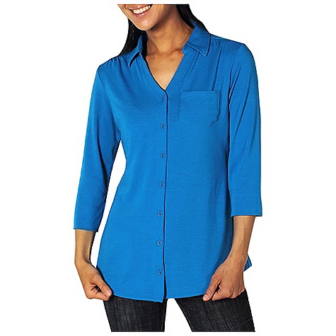 Free Shipping. Ex Officio Women's Go-To Shirtigan DECENT FEATURES of the Ex Officio Women's Go/To Shirtigan Security zipper pocket Button closure Tagless label for added comfort Stretch: Stretch fabric provides maximum mobility and comfort during activity Odor Resistant: Resists growth of bacteria and fungus that cause odors Quick drying: Fibers release moisture easily so garment dries rapidly Wicking: Fabric moves moisture along the garment's surface away from the skin The SPECS Natural fit DriRelease Go/To 81% Polyester/14% Cotton/5% Spandex - $69.95