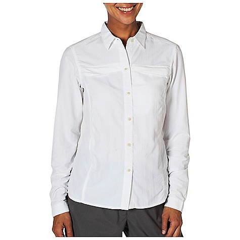 Free Shipping. Ex Officio Women's BugsAway Breez'r L-S Top DECENT FEATURES of the Ex Officio Women's BugsAway Breez'r Long Sleeve Top Button front placket Security zip chest pocket Flow thru Ventilation system Quick drying: Fibers release moisture easily so garment dries rapidly Sun Guard 30+: Specialized fabric rated with a UPF (Ultraviolet Protection Factor) absorbs and reflects harmful rays, preventing them from damaging your skin Wicking: Fabric moves moisture along the garment's surface away from the skin Ventilation: Strategically placed vents circulate air to decrease body temperature Anti/Insect: Insect Shield finish to repel flies, ticks, mosquitoes, chiggers, midges, and ants The SPECS Natural fit ExHale UV Block Ripstop 100% Nylon - $79.95