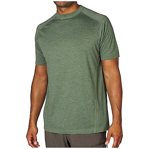 Free Shipping. Ex Officio Men's BugsAway SecuriTee S-S Top DECENT FEATURES of the Ex Officio Men's BugsAway SecuriTee Short Sleeve Top Interior fold-over key pocket Flatlock stitching Forward facing shoulder seams Anti-Insect: Insect Shield finish to repel flies, ticks, mosquitoes, chiggers, midges, and ants Sun Guard: Specialized fabric rated with a UPF (Ultraviolet Protection Factor) absorbs and reflects harmful rays, preventing them from damaging your skin Moisture Wicking: Fabric moves moisture along the garment's surface away from the skin Lightweight: Lightweight fibers make this weigh less than a similar garment The SPECS Natural fit Heather Jersey 65% Polyester / 35% Cotton - $49.95