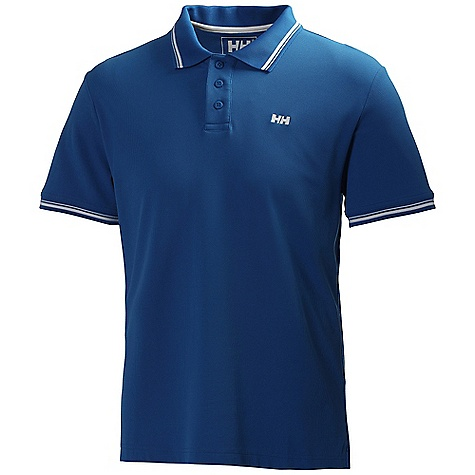 Free Shipping. Helly Hansen Men's Kos Polo DECENT FEATURES of the Helly Hansen Men's Kos Polo Quick dry fabric Waffle pique Tactel 180g Contrast neck band Rib collar Regular fit Side split Back drop HH logo on chest Stripe detail on collar Stripe detail on cuff The SPECS Fabric Weight: 180 g/m2 100% Nylon This product can only be shipped within the United States. Please don't hate us. - $54.95