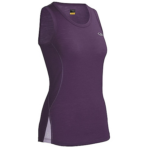 Surf Free Shipping. Icebreaker Women's Bolt Tank DECENT FEATURES of the Icebreaker Women's Bolt Tank 150gm jersey / 96% merino / 4% lycra Flatlock stitching prevents chafing Shaped hem for flattering, active fit Contrast stitching - $59.95