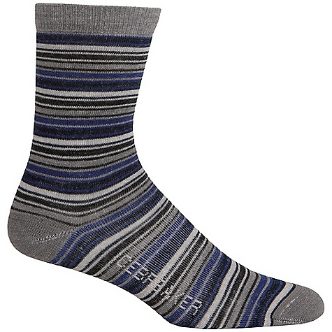 Icebreaker Women's City Ultralite Stripetease 3-4 Crew Sock DECENT FEATURES of the Icebreaker Women's City Ultralite Stripetease 3/4 Crew Sock Everyday sock with style Non-itch, highly breathable merino LYCRA enhances fit and dry time Achilles/Instep support LIN toe seam to prevent blisters - $17.95