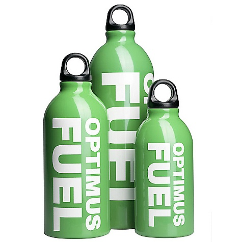 Optimus Fuel Bottles The Optimus Fuel Bottles by Katadyn. Optimus fuel bottles are suitable for transporting and pressurizing all kinds of liquid fuel. Thanks to a unique hardening process, these bottles are strong and durable, yet surprisingly light weight. With child safe cap. This product can only be shipped within the United States. Please don't hate us. - $14.95