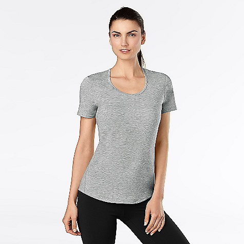 Fitness On Sale. lucy Women's Workout Tee The SPECS Fit: Body Skimming, Scoop Neckline, Self Binding At Neck Drirelease Flatlocked Seams Moisture Wicking Jersey Knit: 83% Polyester 11% Tencel Lyocell 6% Spandex - $27.27