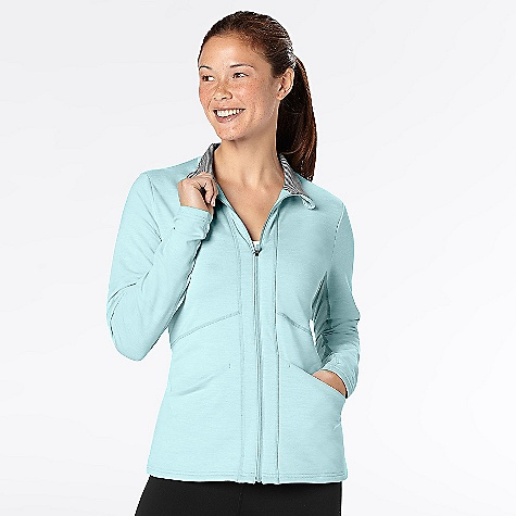 Fitness On Sale. Free Shipping. lucy Women's Race Your Heart Out Jacket The SPECS Fit: Body skimming, raglan sleeves, thumbholes, curved hem, mesh insets, ruched sides and back Moisture wicking Ventilation Reflective UPF 30 Flatlocked seams Space dye terry 94% polyester 6% lycra spandex - $68.57