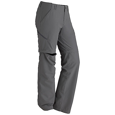 Free Shipping. Marmot Women's Lobo's Convertible Pant DECENT FEATURES of the Marmot Women's Lobo's Convertible Pant Blue Sign Approved Fabric Lightweight, Comfortable, Durable, Nylon Stretch Performance Woven Fabric Ultraviolet Protection Factor (UPF) 30 Abrasion Resistant Nylon Fabric Durable Water-Resistant Finish (DWR) Quick-Drying Stretch for Increased Mobility Inseam Gusset Panel Roll-Up Cuff Feature with Decorative Taping Zipper Secure Side Pocket DriClime Interior Waistband for Added Comfort 32in. Inseam and Pant Zips off to Convert into a 9in. Short The SPECS Weight: 9.9 oz / 280.7 g Material: 93% Nylon, 7% Elastane Plain Weave 3.8 oz/yd Fit: Regular - $77.95