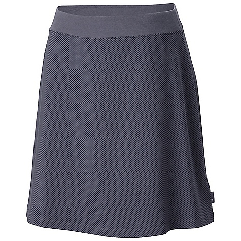 Free Shipping. Mountain Hardwear Women's Tonga Skirt DECENT FEATURES of the Mountain Hardwear Women's Tonga Skirt Comfy cottton fabric feels great against body Side zip pocket for valuables Flat-lock seam construction eliminates chafe The SPECS Average Weight: 6 oz / 178 g Out Seam: 19in. / 48 cm Body: Side Stripe V6 Jersey (90% cotton, 10% elastane) - $54.95
