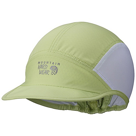 Fitness Mountain Hardwear Women's Apparition Running Cap DECENT FEATURES of the Mountain Hardwear Women's Apparition Running Cap Cool Q Zero provides an immediate and ongoing cooling sensation Wick .Q EVAP disperses moisture for quick evaporation Lightweight mesh sides for ventilation The SPECS Average Weight: 1 oz / 26 g Body: dry .Q eVap apparition Windshell (100% polyester) Panel: Wicked taper Sd (100% polyester) - $31.95