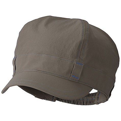 Mountain Hardwear Women's Hemp Brigade DECENT FEATURES of the Mountain Hardwear Women's Hemp Brigade 2in. brim Ponytail opening at back with elastic adjustment The SPECS Average Weight: 2 oz / 68 g Body: bonito Stretch Faille (88% nylon, 12% elastane) - $34.95