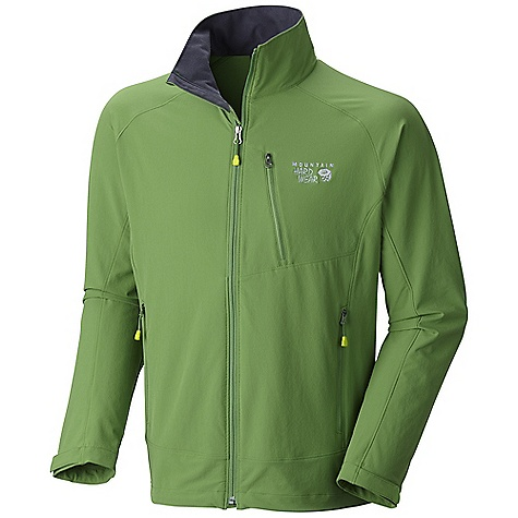 On Sale. Free Shipping. Mountain Hardwear Men's Onata Jacket DECENT FEATURES of the Mountain Hardwear Men's Onata Jacket Air-permeable stretch fabric with high abrasion resistance DWR finish sheds moisture Two hand pockets and zippered chest pocket The SPECS Average Weight: 12 oz / 340 g Center Back Length: 27in. / 69 cm Body: Chockstone doubleweave Soft-shell (91% nylon, 9% elastane) - $89.99