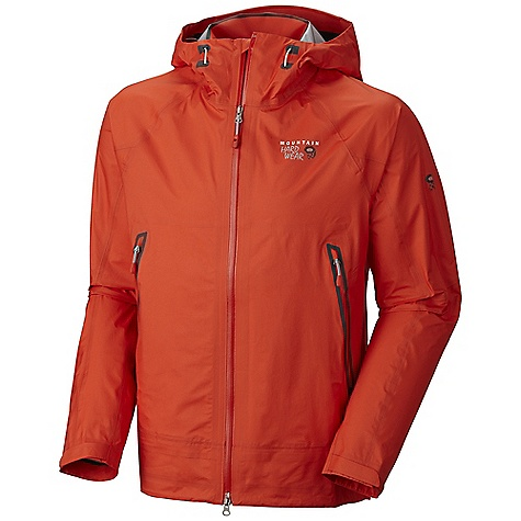 On Sale. Free Shipping. Mountain Hardwear Men's Quasar Jacket FEATURES of the Mountain Hardwear Men's Quasar Jacket Helmet-compatible hood with single-pull adjustment system Cuff tabs and hem drawcords for quick fit adjustments Interior zip pocket for keys, ID, other small items Internal stash pocket - $237.99