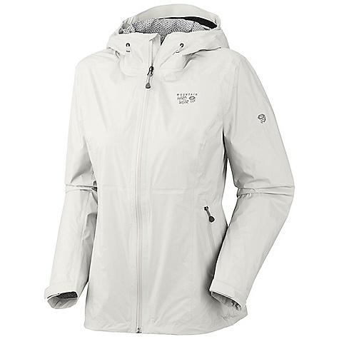 Free Shipping. Mountain Hardwear Women's Capacitor Jacket DECENT FEATURES of the Mountain Hardwear Women's Capacitor Jacket Dry.Q EVAP accelerates evaporation for more breathability and comfort Fully adjustable hood with single pull adjustment system Cuff tabs and hem drawcords for quick fit adjustments Interior zip pocket for keys, ID, other small items The SPECS Average Weight: 8 oz / 233 g Center Back Length: 28in. / 71cm Body: Dry.Q EVAP 15D 2.5L Ripstop 100% nylon - $229.95