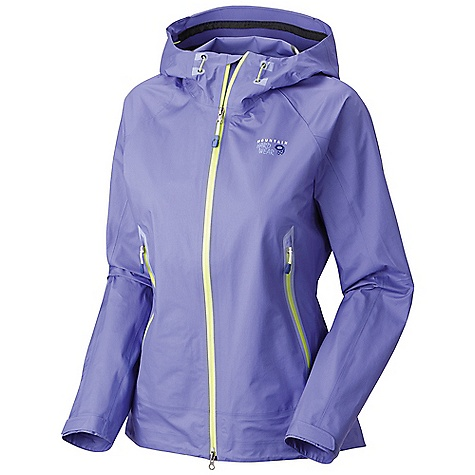 Free Shipping. Mountain Hardwear Women's Quasar Jacket DECENT FEATURES of the Mountain Hardwear Women's Quasar Jacket Helmet-compatible hood with single-pull adjustment system Cuff tabs and hem drawcords for quick fit adjustments Interior zip pocket for keys, ID, other small items Internal stash pocket The SPECS Average Weight: 12 oz / 332 g Center Back Length: 28in. / 71 cm Body: 15d Dry.Q Elite 3l nylon laminate (100% nylon) - $399.95