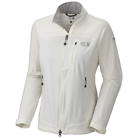 Free Shipping. Mountain Hardwear Women's Onata Jacket DECENT FEATURES of the Mountain Hardwear Women's Onata Jacket Air-permeable stretch fabric with high abrasion resistance DWR finish sheds moisture Curved drop hem for back coverage The SPECS Average Weight: 12 oz / 347 g Center Back Length: 26.5in. / 67 cm Body: Chockstone doubleweave Softshell (91% nylon, 9% elastane) - $109.95