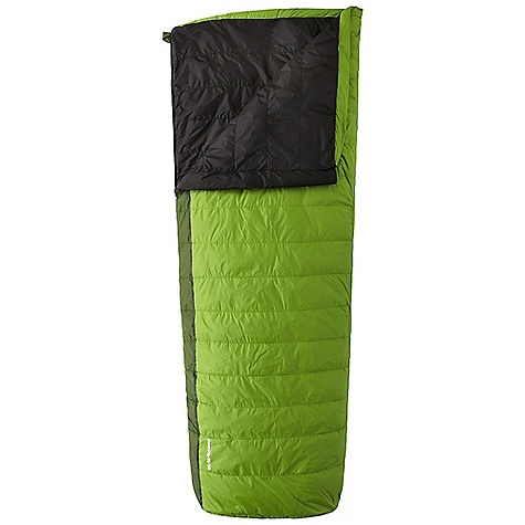 Camp and Hike Free Shipping. Mountain Hardwear Down Flip 35-50 Sleeping Bag The SPECS Temperature Rating: 35deg F / 2deg C Loft Size: 4in. / 9 cm Stuff Size: 7 x 12in. / 18 cm x 30 cm Fill Weight: 9 oz / 250 g Total Weight: 1 lb 13 oz / 823 g Inside Length: 78in. / 198 cm Shoulder Girth: 62in. / 157 cm Hip Girth: 58in. / 147 cm Foot Girth: 38in. / 97 cm Shell: Hi-Five 30DRipstop (100% nylon) Insulation: Q.Shield DOWN 600-fill Lining: 30D Taffeta (100% nylon) - $249.95