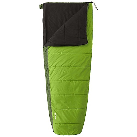 Camp and Hike Free Shipping. Mountain Hardwear Flip 35-50 Sleeping Bag The SPECS Temperature Rating: 35deg F / 2deg C Loft Size: 4in. / 10 cm Stuff Size: 8 x 12in. / 20 cm x 30 cm Fill Weight: 1 lb 12 oz / 794 g Total Weight: 2 lbs 12 oz / 1.25 kg Inside Length: 78in. / 198 cm Shoulder Girth: 62in. / 157 cm Hip Girth: 58in. / 147 cm Foot Girth: 38in. / 97 cm Shell: 50D Nylon Taffeta (100% nylon) Insulation: Thermic MX Lining: 75D Polyester Taffeta (100% polyester) - $139.95