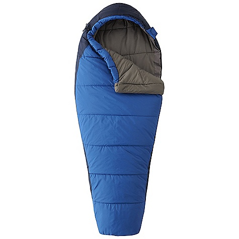 Camp and Hike Free Shipping. Mountain Hardwear Kids' Mountain Goat Adjustable Sleeping Bag The SPECS Temperature Rating: 20deg F / -7deg C Loft Size: 5in. / 13 cm Stuff Size: 8 x 12in. / 20 cm x 30 cm Fill Weight: 1 lb 06 oz / 624 g Total Weight: 2 lbs 3 oz / 980 g Inside Length: 63in. / 160 cm Shoulder Girth: 56in. / 142 cm Hip Girth: 56in. / 142 cm Foot Girth: 36in. / 91 cm Shell: 50D Nylon Taffeta (100% nylon) Insulation: Thermic MX Lining: 75D Polyester Taffeta (100% polyester) - $114.95