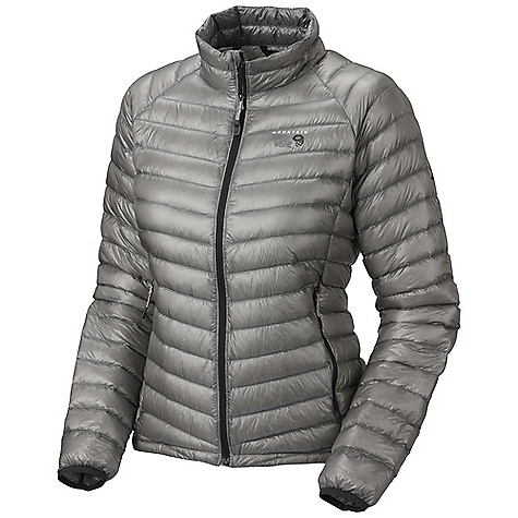 Free Shipping. Mountain Hardwear Women's Ghost Whisperer Down Jacket DECENT FEATURES of the Mountain Hardwear Women's Ghost Whisperer Down Jacket Q.Shield Down protects individual down fibers from moisture so they keep you warm even when wet Quilted construction holds Insulation in place Two front handwarmer pockets Jacket stows in pocket Lightweight single pull hem drawcord The SPECS Average Weight: 6 oz / 170 g Center Back Length: 25in. / 64 cm Body: Whisperer 7D x 10D Ripstop (100% nylon) Insulation: Q.Shield Down 850-fill - $299.95