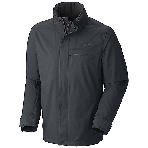 Free Shipping. Mountain Hardwear Men's Pisco Jacket DECENT FEATURES of the Mountain Hardwear Men's Pisco Jacket Interior zip pocket for keys, ID, other small items Removable, adjustable hood Cuff tabs and hem drawcords for quick fit adjustments Covered center front zipper, with two covered zip hand pockets The SPECS Average Weight: 1 lb 6 oz / 613 g Center Back Length: 30in. / 76 cm Body: Dry.Q Core 2L Dobby (100% nylon) - $219.95