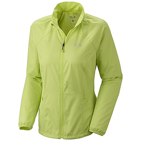 Free Shipping. Mountain Hardwear Women's Apparition Jacket DECENT FEATURES of the Mountain Hardwear Women's Apparition Jacket Zippered hand pockets One-handed hem draw cord seals in warmth Full front zipper with chin guard for comfort Reflective trim for visibility DWR finish repels water The SPECS Average Weight: 6 oz / 169 g Center Back Length: 26in. / 66 cm Body: Apparition Wind Shell (100% polyester) - $89.95
