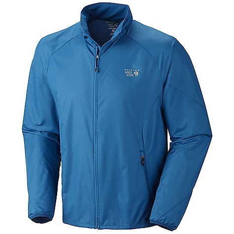 Free Shipping. Mountain Hardwear Men's Apparition Jacket DECENT FEATURES of the Mountain Hardwear Men's Apparition Jacket Full front zipper with chin guard for comfort Wick.Q EVAP wicks faster and makes fabric feel drier than traditional wicking fabrics Zippered hand pockets One-handed hem draw cord seals in warmth DWR finish repels water Reflective trim for visibility The SPECS Apparel Fit: Semi-Fitted Average Weight: 6.3 oz /178 g Center Back Length: 27.5in./ 70 cm Body: Dry.Q EVAP Apparition Wind shell (100% polyester) - $89.95